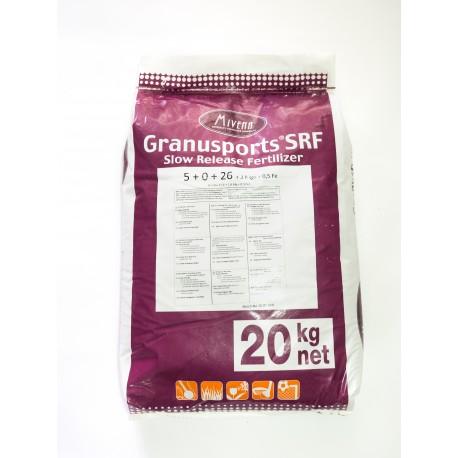 Granusport SRF 20kg NPK 5-0-26+3Mgo+0,5 Fe